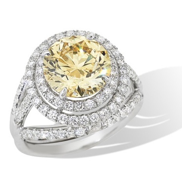 Diamond Engagement Ring of the Month! It's over 4 Carats!