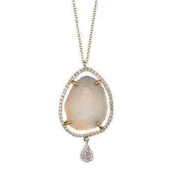 Meira T Geode Diamond Necklace
