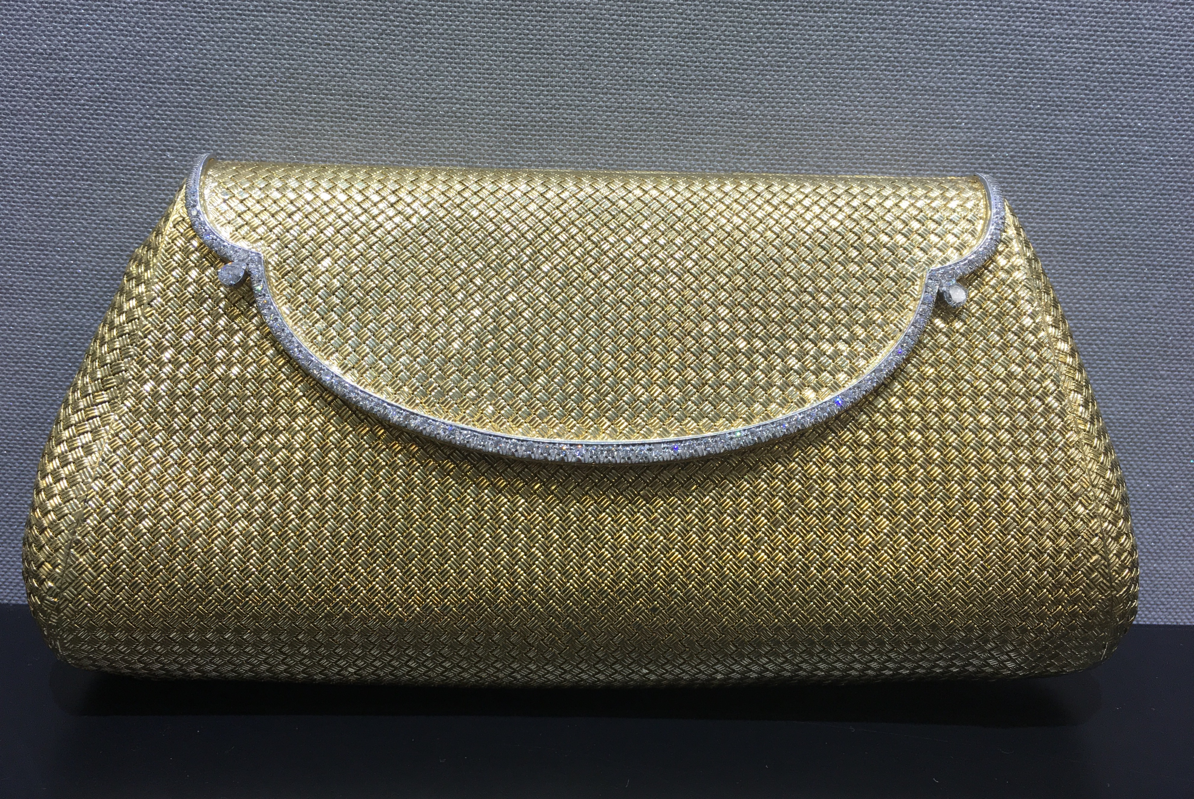 Bulgari 18K yellow gold vintage clutch