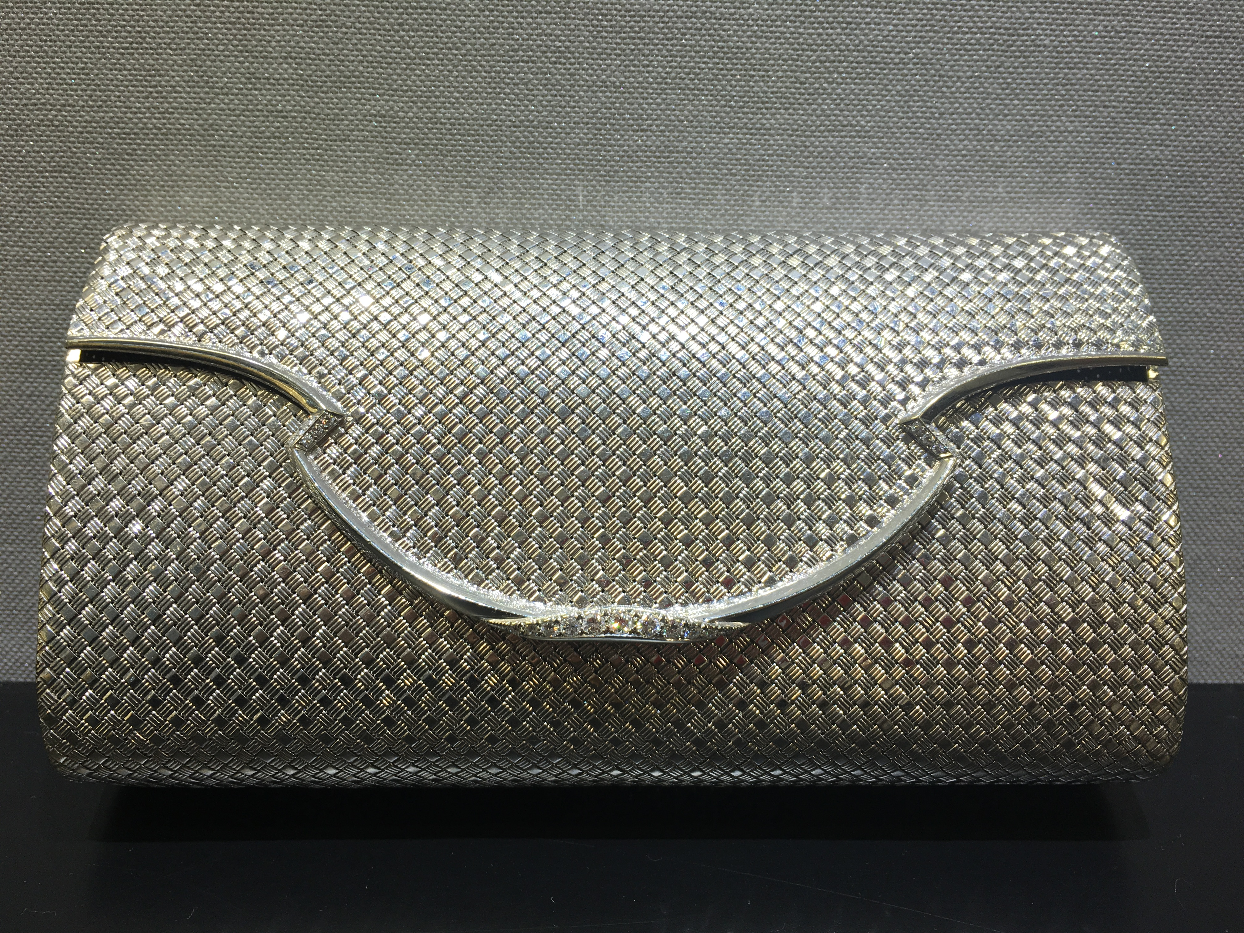 Bulgari 18K white gold vintage clutch
