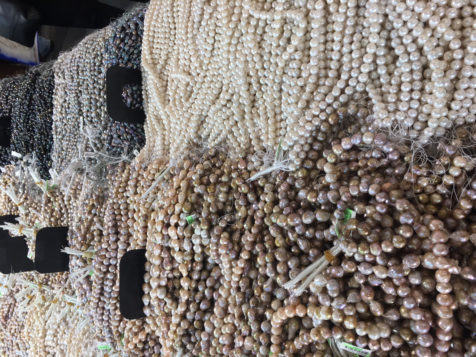 Big sea of pearls at The Tucson Gem Show