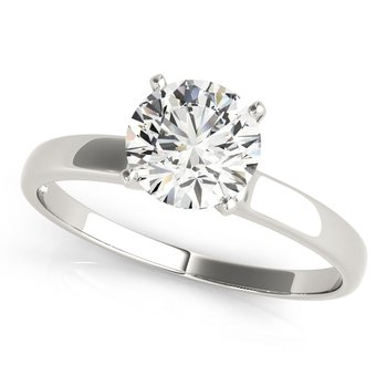 Round Brilliant Diamond Solitaire Engagement Ring at London Gold