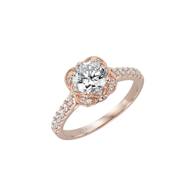 artcarved rose gold diamond engagement ring
