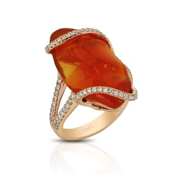 Fire Opal Ring by Yael Designs