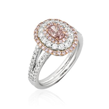 Oval Pink Diamond Engagement Ring by Yael Designs at London Gold
