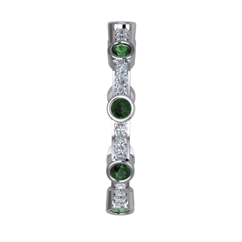 Stackable Emerald Band