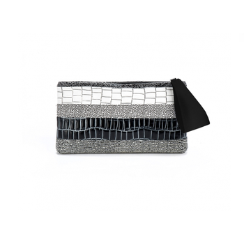 Daniella Lehavi Alexa Mix Black Clutch