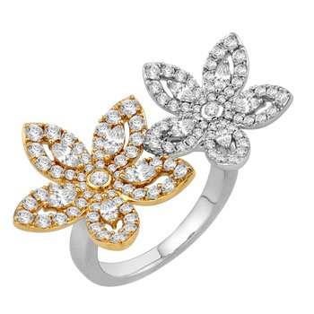 Isadora Double Flower Ring