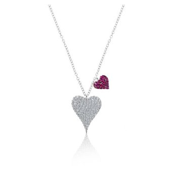 Meira T Double Heart Necklace