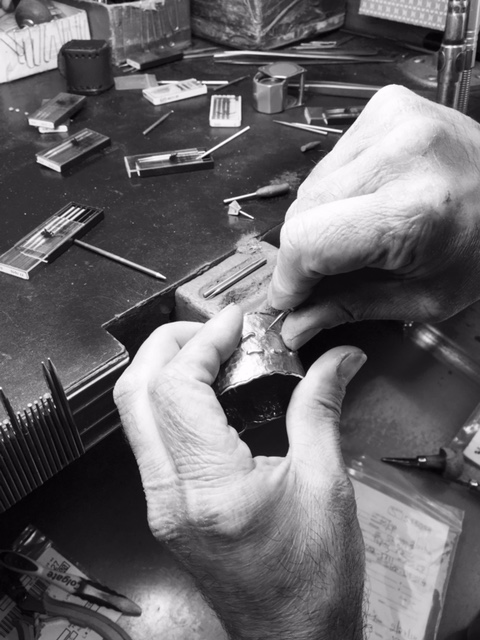 Jeweler Doing Prong Work
