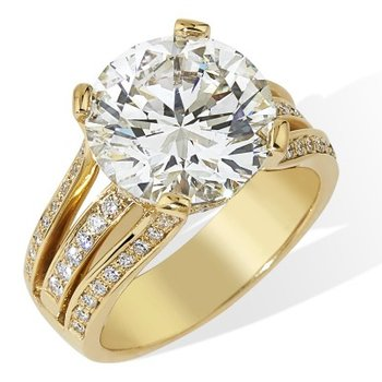 London Gold Designs Open Diamond Engagement Ring