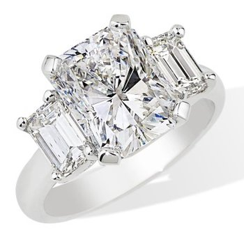 London Gold Designs 3-stone Diamond Engagement Ring