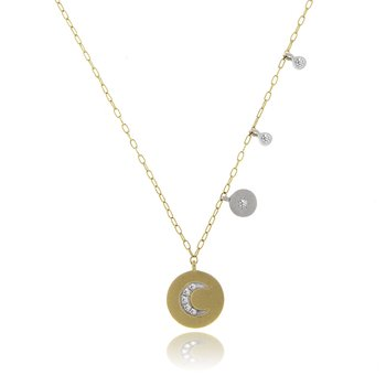 Meira T moon disc necklace